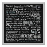 inspiration words collage poster