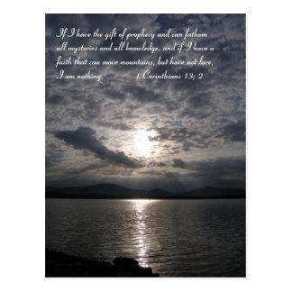 Inspirational   1 Corinthians 13; 2 Postcard