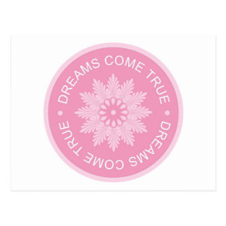 Inspirational 3 Word Quotes ~Dreams Come True~ Postcards