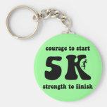 Inspirational 5K Basic Round Button Keychain