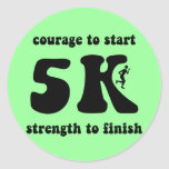 Inspirational 5K Classic Round Sticker