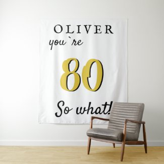 Inspirational 80th Birthday Party Backdrop