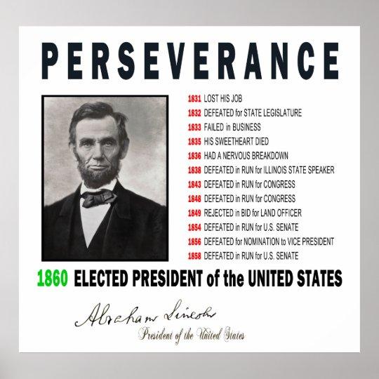 Inspirational Abraham Lincoln Poster Zazzlecom