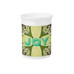 Inspirational Abstract Cross Center 'Joy' Shape Beverage Pitcher