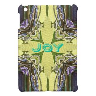 Inspirational Abstract Cross Center 'Joy' Shape Cover For The iPad Mini