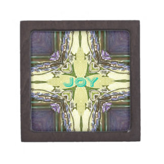 Inspirational Abstract Cross Center 'Joy' Shape Gift Box