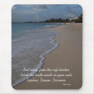 Inspirational Advice Beach Scene Mouse Pad