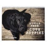 Inspirational Advice From Cute Puppy Dogs 2017 Calendar