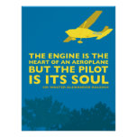 Inspirational airplane & flying poster