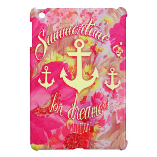 Inspirational anchor and pink poppies art. iPad mini cases