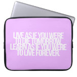 Inspirational and motivational quote laptop sleeve