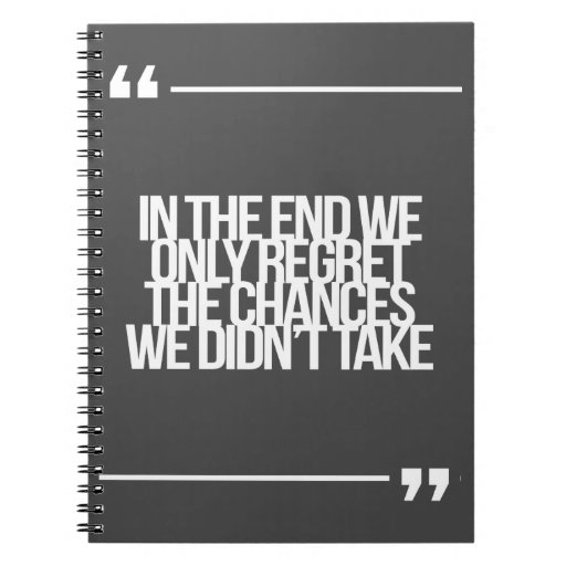Inspirational and motivational quote spiral note books