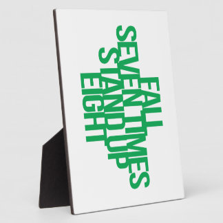 Inspirational and motivational quote photo plaques
