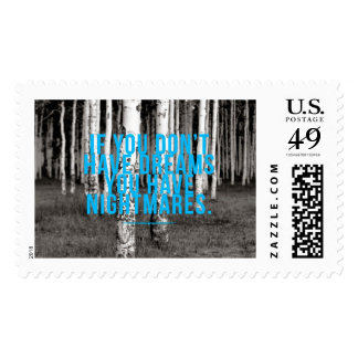 Inspirational and motivational quote postage