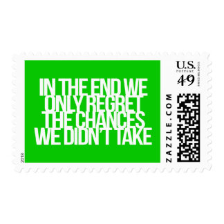Inspirational and motivational quote postage stamps