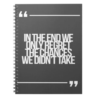Inspirational and motivational quote spiral notebook