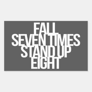 Inspirational and motivational quote rectangular sticker