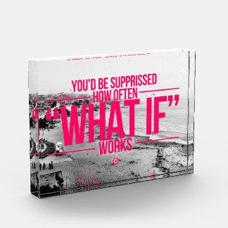 Inspirational and motivational quotes acrylic award