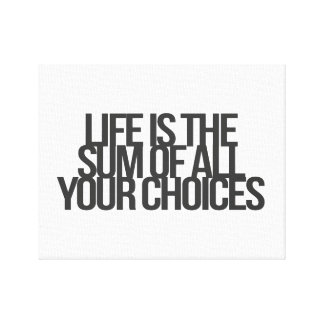Inspirational and motivational quotes canvas prints