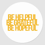 Inspirational and motivational quotes classic round sticker