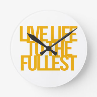 Inspirational and motivational quotes round wall clocks