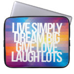 Inspirational and motivational quotes laptop sleeves