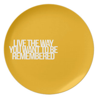 Inspirational and motivational quotes melamine plate