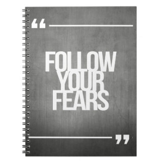 Inspirational and motivational quotes spiral notebooks