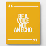 Inspirational and motivational quotes display plaques