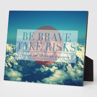 Inspirational and motivational quotes plaque