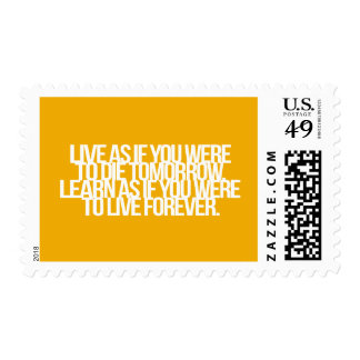 Inspirational and motivational quotes postage stamps