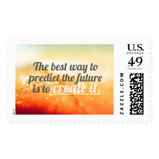 Inspirational and motivational quotes stamp