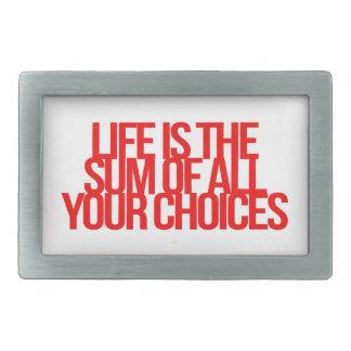 Inspirational and motivational quotes rectangular belt buckle