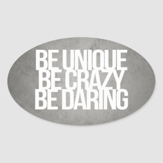 Inspirational and motivational quotes oval sticker
