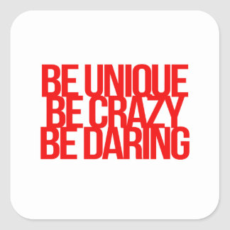 Inspirational and motivational quotes square sticker