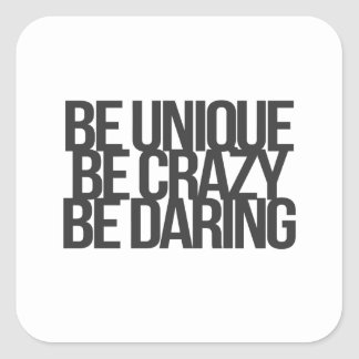 Inspirational and motivational quotes square stickers