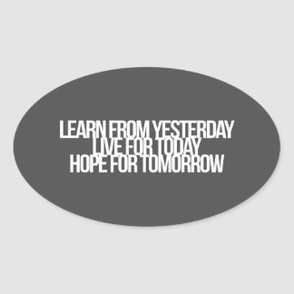 Inspirational and motivational quotes oval stickers
