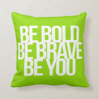 Inspirational and motivational quotes throw pillow