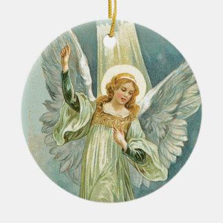 Inspirational Angel Christmas Ceramic Ornament