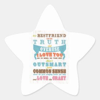Inspirational Art - Be a Best Friend. Star Sticker