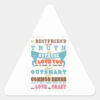 Inspirational Art - Be a Best Friend. Triangle Sticker