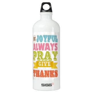 Inspirational Art - Be Joyful Water Bottle