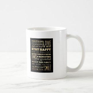 Inspirational Art - Be Positive. Coffee Mug