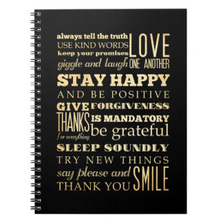 Inspirational Art - Be Positive. Note Books