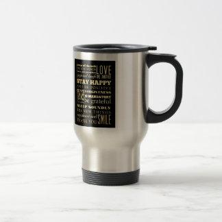 Inspirational Art - Be Positive. Travel Mug
