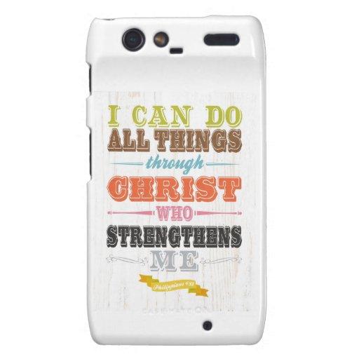 Inspirational Art - Christ Strengthens Me. Droid RAZR Case