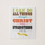 Inspirational Art - Christ Strengthens Me. Jigsaw Puzzle
