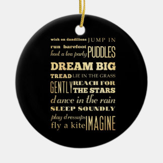 Inspirational Art - Dream Big. Double-Sided Ceramic Round Christmas Ornament