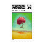 Inspirational art fun modern painting hopeful tree stamp