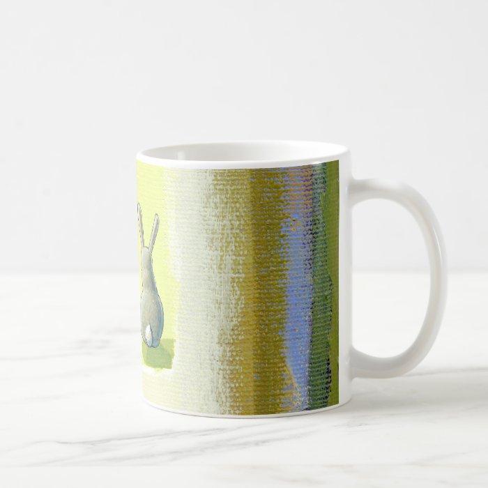 Inspirational art He Should Know Bunny rabbit Coffee Mug